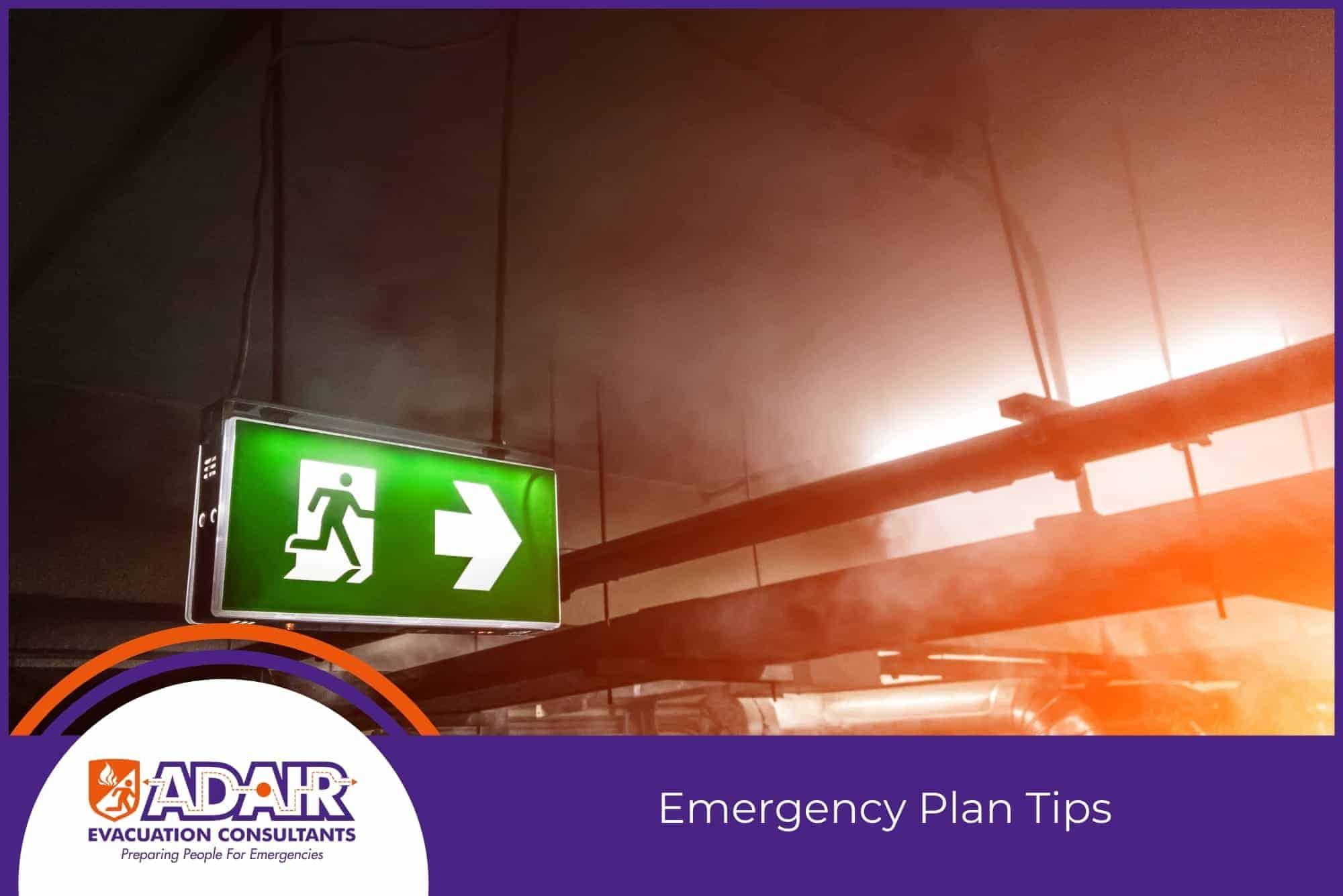 Emergency Plan Tips